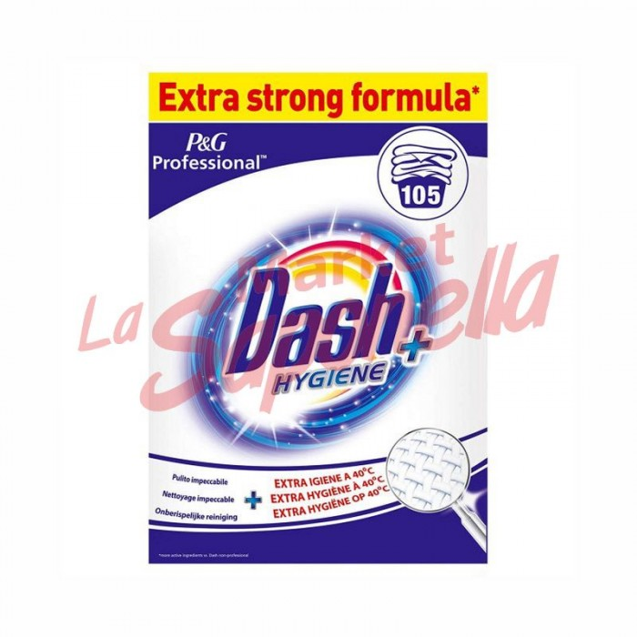 Detergent pulbere pentru rufe Hygiene plus Dash – 6,825 kg-105spalari